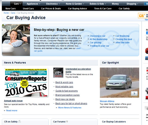 Consumer Guide Automotive: Using Consumer Reports To Select A Car